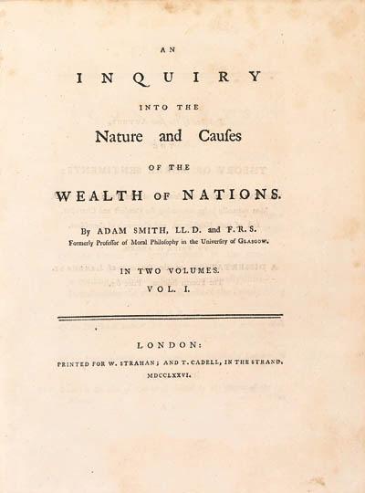SMITH, Adam (1723-1790). An In