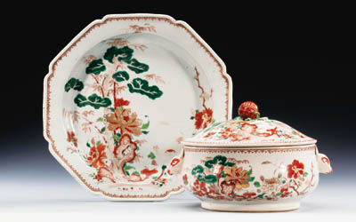 AN EXPORT  TUREEN AND COVER AN