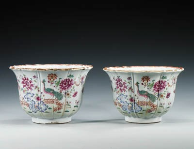 A PAIR OF FAMILLE ROSE FOLIATE
