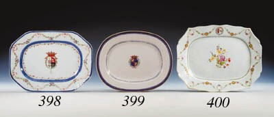 A FAMILLE ROSE ARMORIAL OVAL M