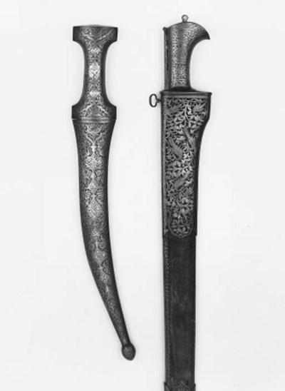 A Large Persian Knife, And A L