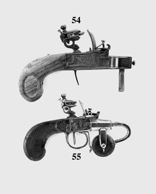 Two Continental Flintlock Powd