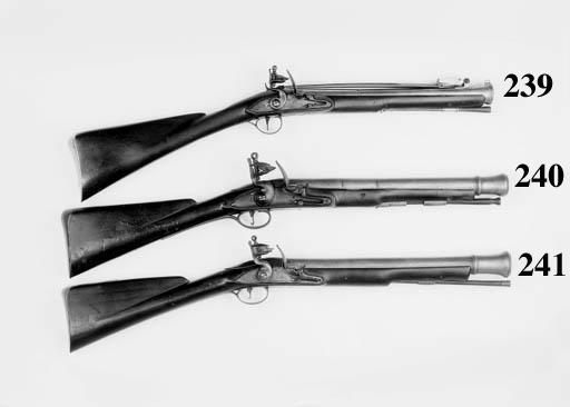 A Flintlock Blunderbuss Of Ser