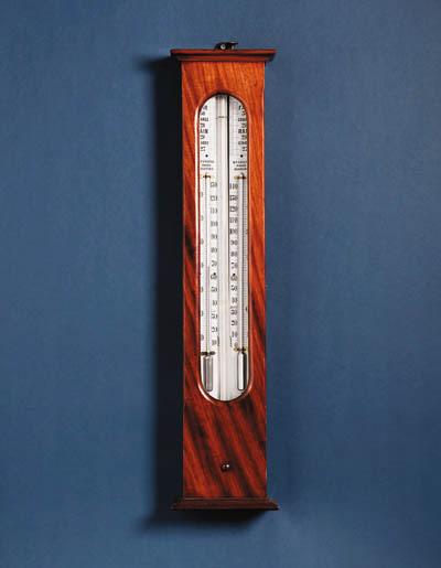 A Victorian mahogany wall barometer