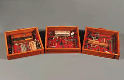 Six glazed oak display cabinet