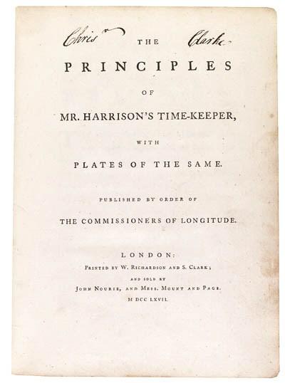 JOHN HARRISON, The Principles