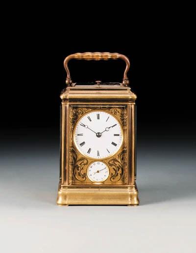 A French gilt-brass striking s