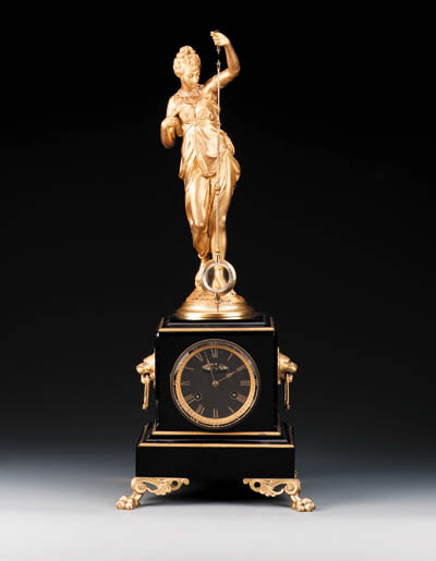 A French gilt-metal and black
