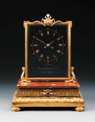 A French ormolu and marble gla
