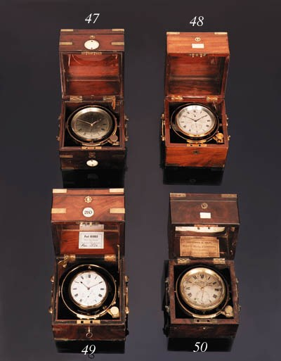 A Victorian mahogany two-day m