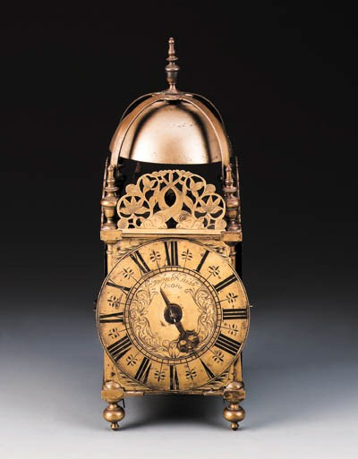 A Queen Anne brass striking la