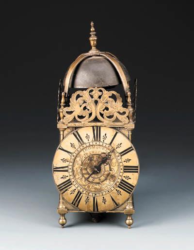 A George I brass lantern timep