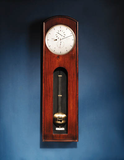 A Victorian Mahogany observatory-type wall regulator with gravity escapement