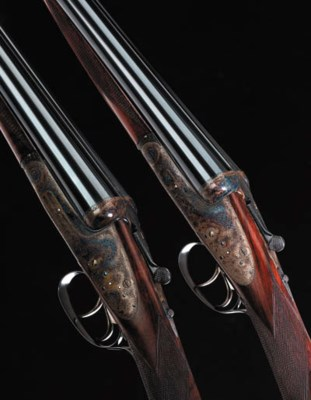 A FINE PAIR OF 12-BORE ROUND-B