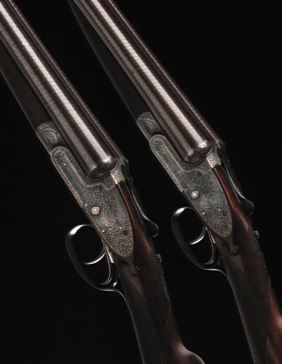 A FINE PAIR OF 12-BORE SIDELOC
