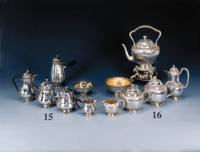 A French silver tea, coffee an