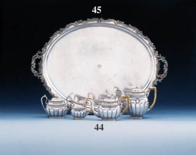 A Russian silver tray