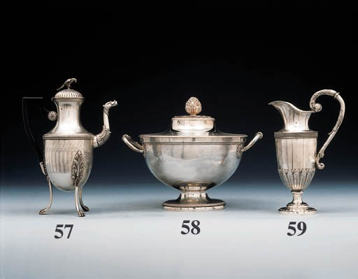 A French silver soup-tureen
