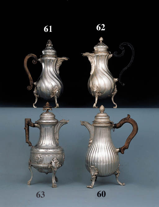 A Belgian silver coffee pot