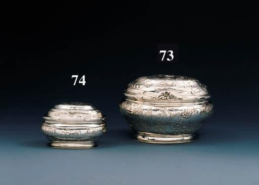 A German silver casket