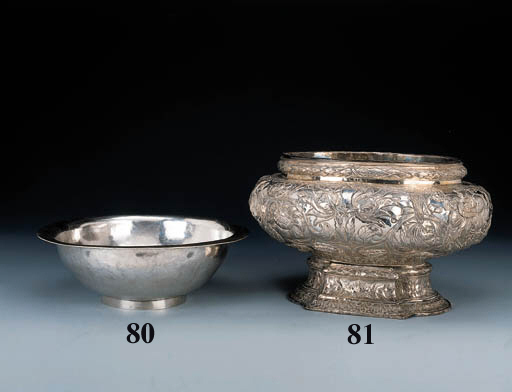 A South American silver basin
