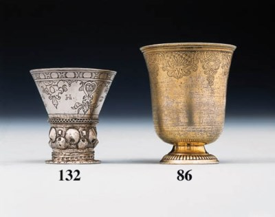 A Louis XV silver-gilt beaker