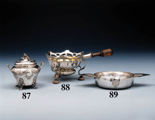A Belgian silver brazier