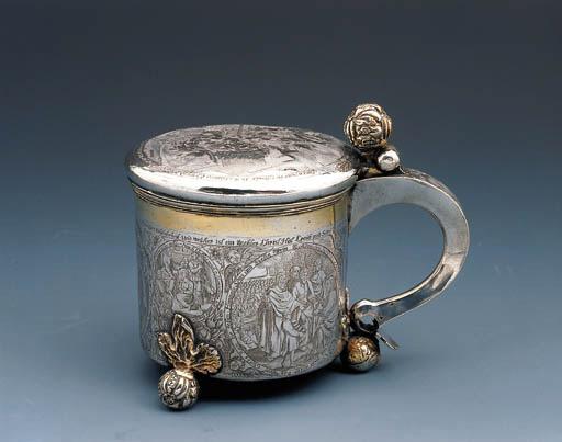 A Swedish parcel-gilt silver tankard
