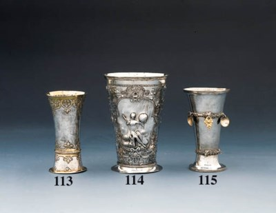 A Norweigan silver beaker