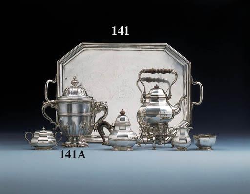A composite silver and white m