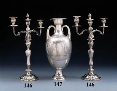 A Pair of Victorian silver thr