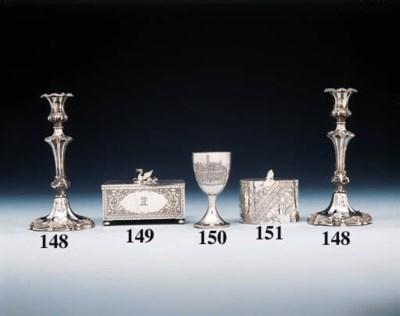 A Victorian silver tea-caddy
