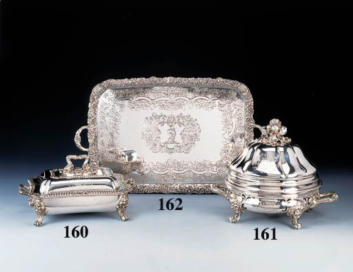 A George IV silver entre dish