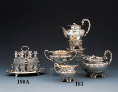 A George III silver cruet-fram