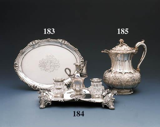 A George III silver waiter