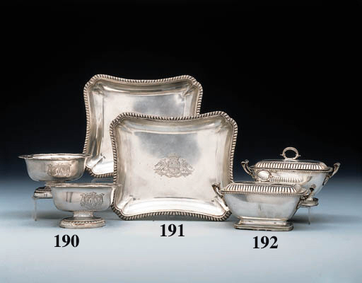 A pair of George III silver sauce-tureen and covers