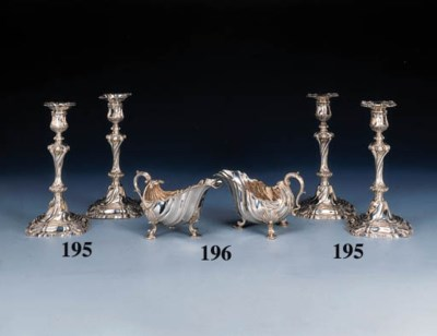 A pair of George IV silver sau