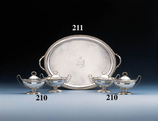 A George III Irish silver tray