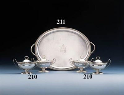A George III Irish silver tray