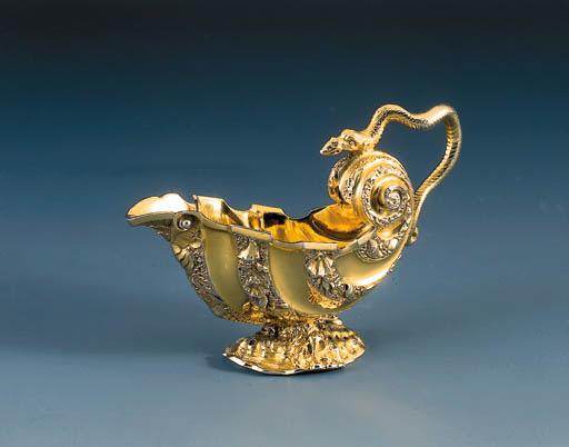 A George II silver-gilt cream
