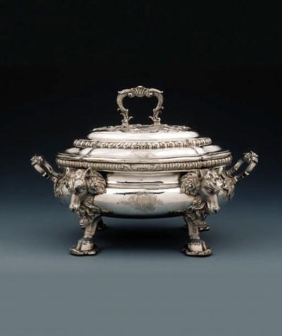 A George II silver soup-tureen