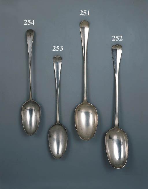 A Queen Anne silver basting-sp