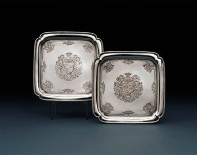 A pair of George I silver wait
