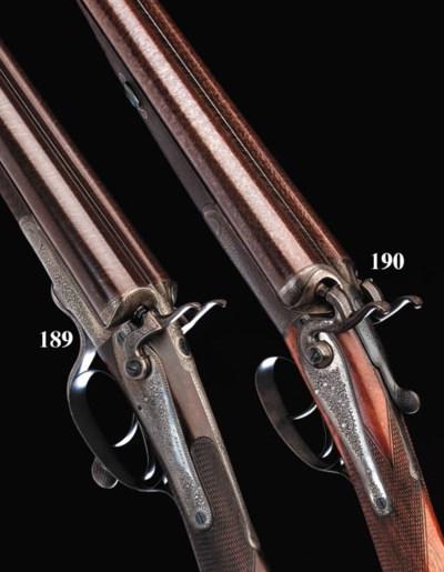 A FINE 12-BORE HAMMER GUN BY F