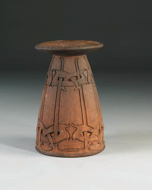 A terracotta stand