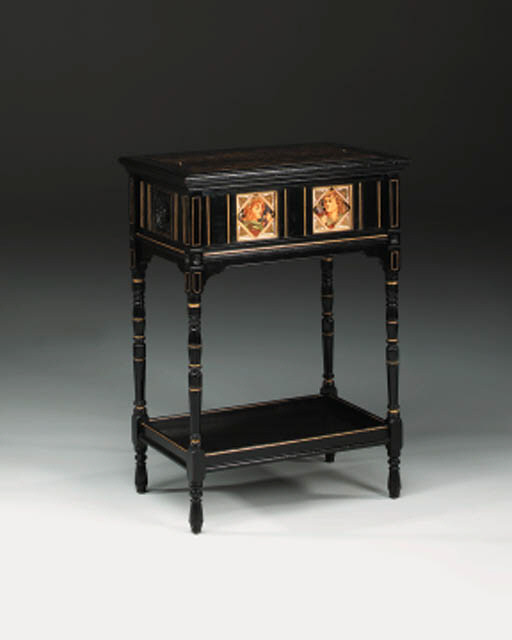 An ebonised and gilded jardiniere