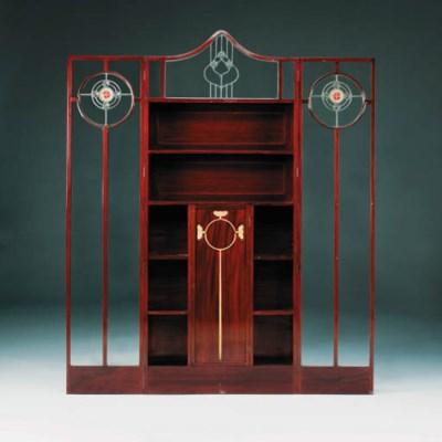 A glazed cabinet
