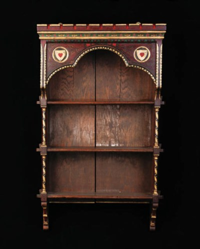 A Painted Oak Hanging Cabinet