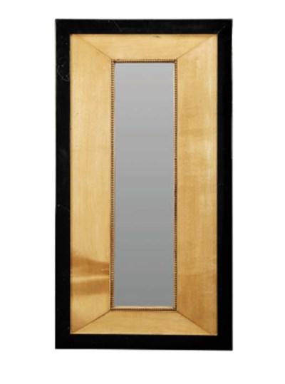 An Ebony and Birchwood Mirror