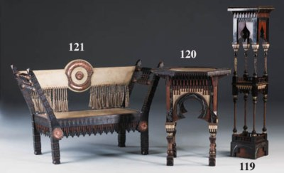 An inlaid bench